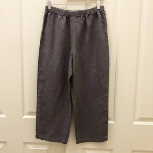 Jane Sisco Plum Colored Linen Pants